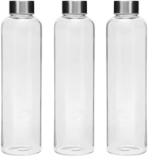 Cutting EDGE Borosilicate Glass Water Bottle for School|Home|Office|Sport|Gym|Hot & Cold Drinks 500 ml Bottle