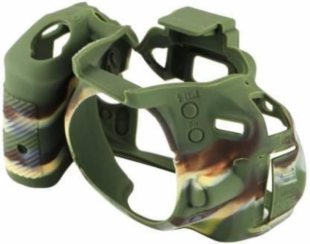 SWEZO Silicon Cover for D5500/5600 Camera Case, Professional Silicone Rubber Camera Case Cover Detachable Protective for D5500/5600 Army Print  Camera Bag
