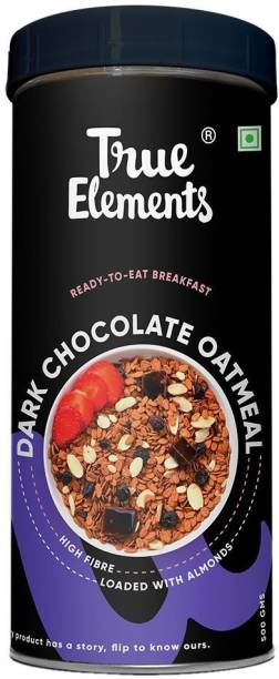 True Elements Dark Chocolate Oatmeal | High in Fibre | Loaded with Almonds