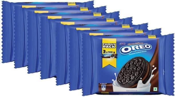 OREO Choco Creme Chocolatey Sandwich Biscuits (1.2 kg, Pack of 7) Cream Sandwich