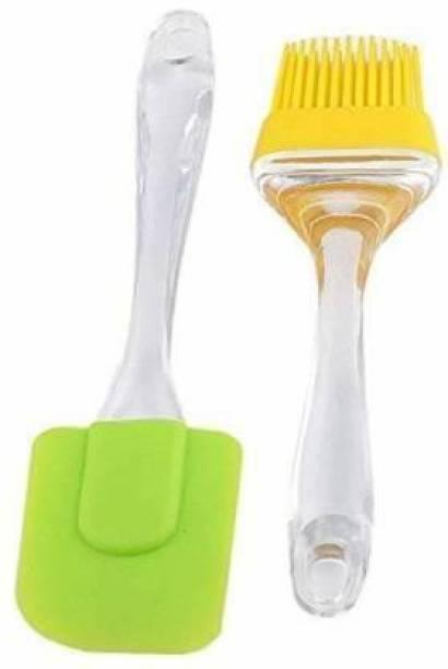 Flourish New & Big Silicone Oil Brush & Spatula For applying Butter/Oil, Cake Mixer, Decorating, Cooking,etc silicon Flat Pastry Brush SILICON Flat Pastry Brush