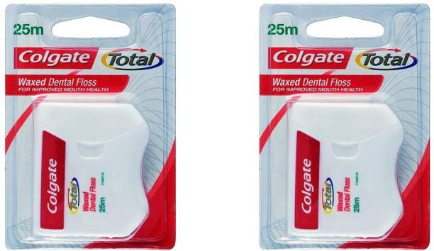 Colgate Waxed Dental Floss For Cleaning The Teeth 25m