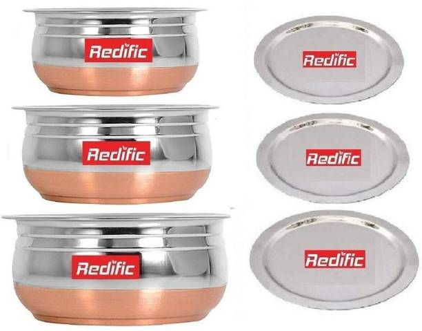 Redific Pack of 6 Stainless Steel Dinner Set