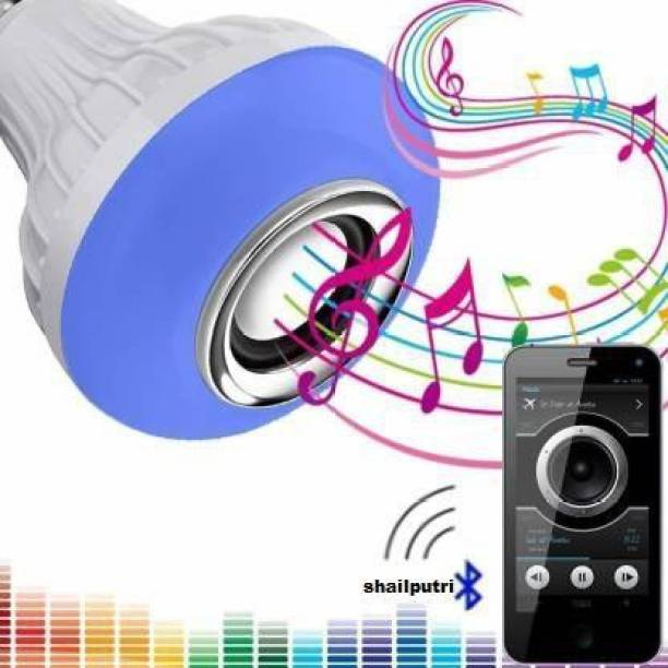 Shailputri 18 Colour Changing Smart Led Music Bulb Remote Controller Bluetooth Music Bulb With 7W LED And 3W Speaker For Party Home Decor Music Bulb WIth Remote Smart Bulb Dual Disco Ball