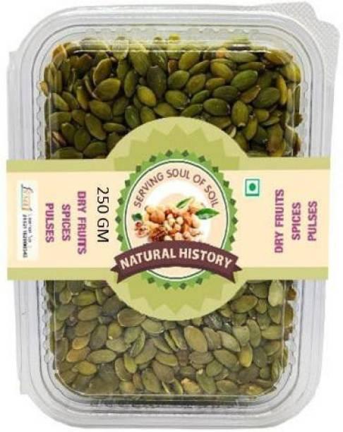natural history Brand- Premium Pumpkin Seeds 250 Gm (Pack Of 1)