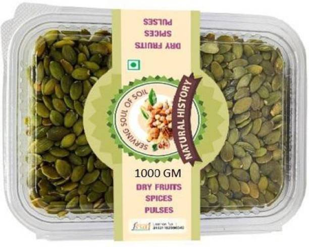 natural history Brand -Premium Pumpkin Seeds 1000 Gm (Pack Of 1 )