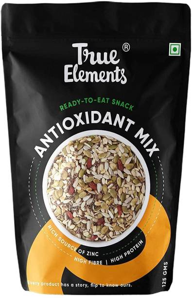 True Elements Antioxidant Mix Seeds - Roasted Sunflower, Pumpkin, Flax, Watermelon, Chia, Goji berries