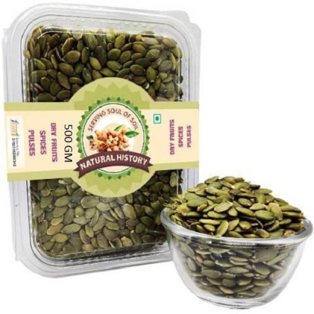 natural history Brand -Premium Pumpkin Seeds 500 Gm (Pack Of 1 )