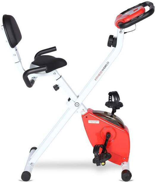 FITNESS WORLD Eazy Bike With 8 Level Magnetic Resistance - For Home and Gym Indoor Cycles Exercise Bike