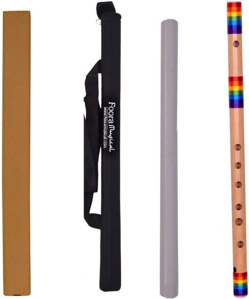 Foora Rainbow Flute A Natural Base (Special Edition) Right Hand - Size 23 Inches FREE PROTECTOR BEG Bamboo Flute