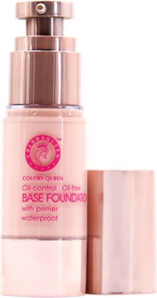 COLORS QUEEN Oil Control,Waterproof Base With Primer Pump Foundation Skin Color Foundation