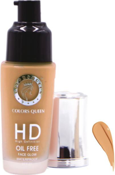 COLORS QUEEN HD High Dafination 24 Hours Oil Free Waterproof All Type Skin Smudgeproof Foundation