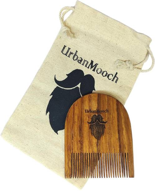 UrbanMooch Handcrafted Sheesham Wood Beard Comb - Compact & Light Weight