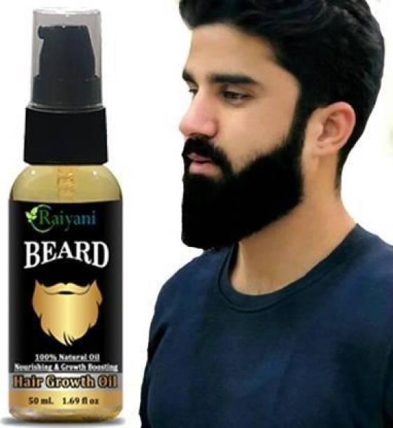 Raiyani Advanced Beard Growth Oil For Men (SLS & Parabean Free) Hair Oil (50 ml) Hair Oil