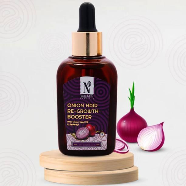 NutriGlow NATURAL'S Organic Onion hair Growth | DTH Blocker | for Thinning & Receding Hair