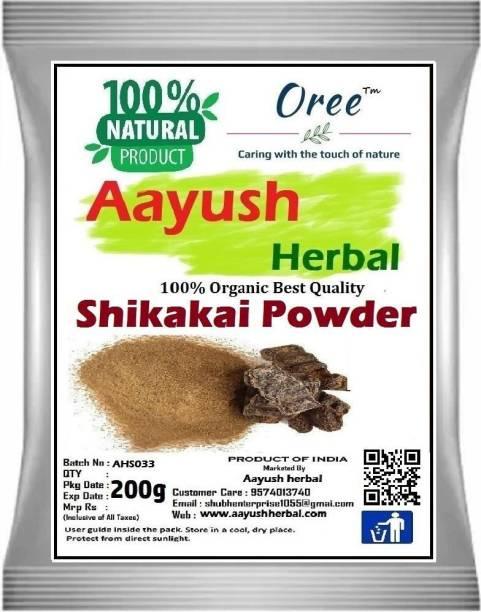 Aayush herbal 100% Natural/Organic Shikakai Powder For Hair Care | Excellent Hair Conditioner & Cleanser- 200g