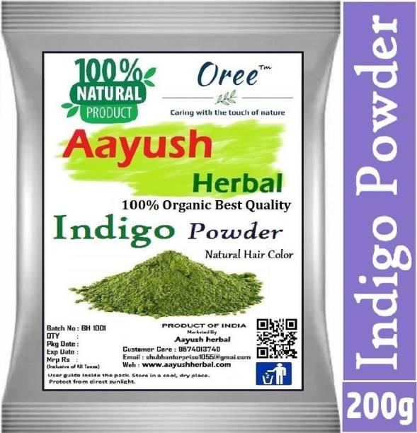 Aayush herbal 100% Pure & Natural Indigo Powder Herbal Hair Colorant-200g