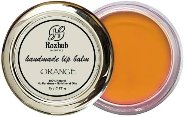 Rozhub Naturals Orange Lip Balm Orange