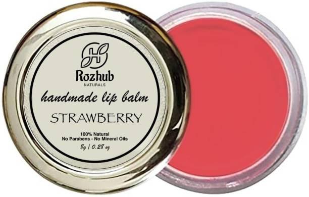 Rozhub Naturals Strawberry Lip Balm Strawberry