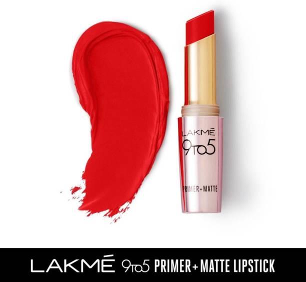 Lakmé 9TO5 Primer + Matte Lip Color Red Twist