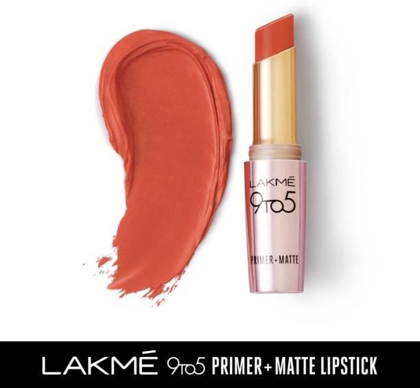 Lakmé 9TO5 Primer + Matte Lip Color Brick Blush