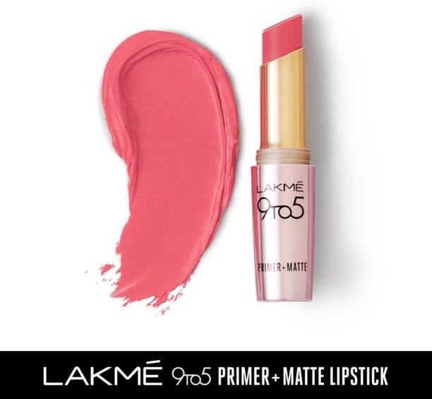 Lakmé 9TO5 Primer + Matte Lip Color Blush Pink