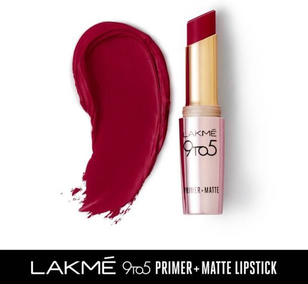 Lakmé 9TO5 Primer + Matte Lip Color Burgundy Passion