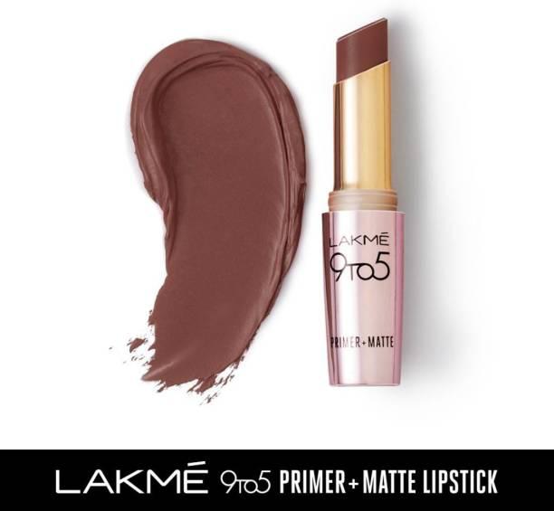 Lakmé 9TO5 Primer + Matte Lip Color Brown Walnut