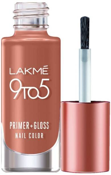 Lakmé 9to5 Primer + Gloss Nail Colour, Honey Love Honey Love
