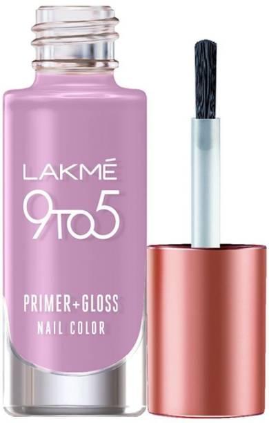 Lakmé 9to5 Primer + Gloss Nail Colour, Lavender Breeze Lavender Breeze