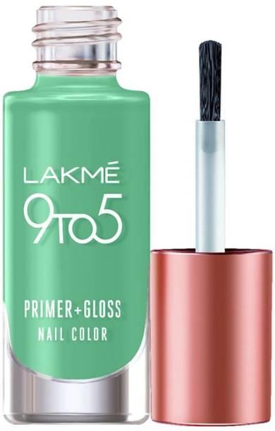 Lakmé 9to5 Primer + Gloss Nail Colour, Mint Twist Mint Twist