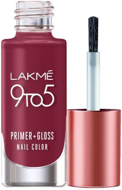 Lakmé 9to5 Primer + Gloss Nail Colour, Scarlet Blaze Scarlet Blaze