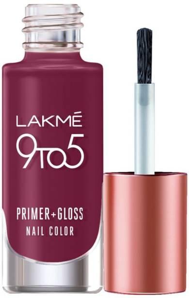 Lakmé 9to5 Primer + Gloss Nail Colour, Desert Rose Desert Rose