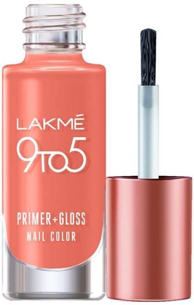 Lakmé 9to5 Primer + Gloss Nail Colour, Coral Haze Coral Haze