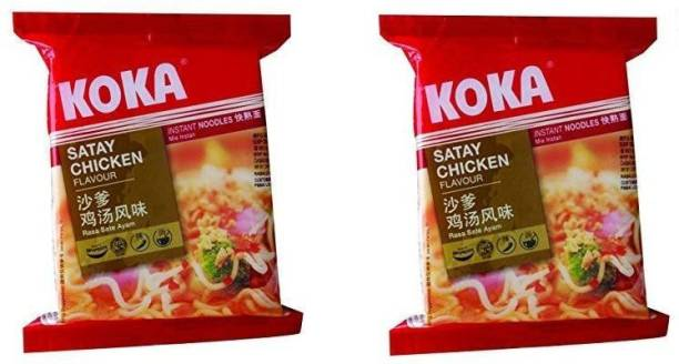 KOKA Satay Chicken Flavour Instant Noodles (Imported) -(Pack of 2) Instant Noodles Non-vegetarian