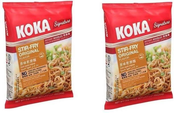 KOKA Strir-Fry Flavour Instant Noodles (Imported) -(Pack of 2) Instant Noodles Vegetarian