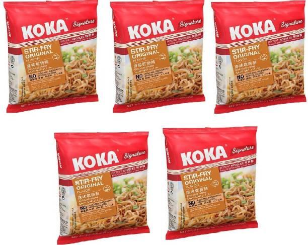 KOKA Strir-Fry Flavour Instant Noodles (Imported) -(Pack of 5) Instant Noodles Vegetarian