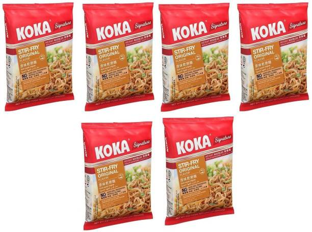KOKA Pepper Crab Flavour Instant Noodles (Imported) -(Pack of 6) Instant Noodles Non-vegetarian