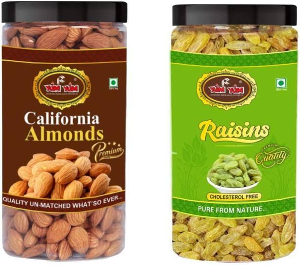 YUM YUM Premium Dry Fruits Combo Pack 1kg- Almonds, Raisins