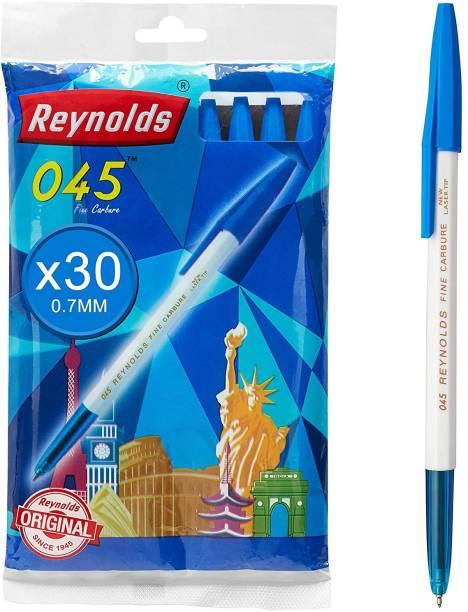Reynolds 045 Fine Carbure Blue Ball Pen