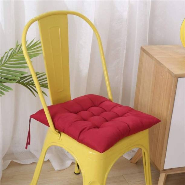 Supreme Home Collective Chair pad Cotton Solid Chair Pad Pack of 1