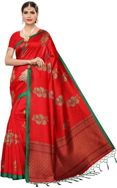 Parvati Creation Printed Daily Wear Silk Blend Saree