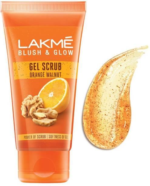 Lakmé Orange Walnut Gentle On Skin Deep Cleansing Gel  Scrub