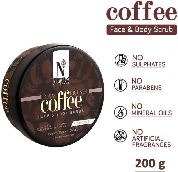 NutriGlow Natural Coffee Face & Body  Scrub