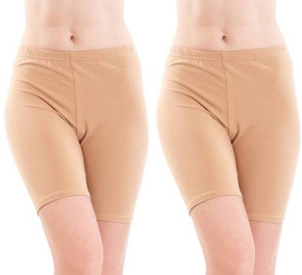 Apraa & Parma Solid Women Beige Cycling Shorts