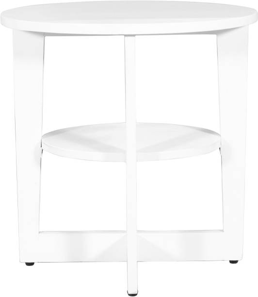 PRITI END Side Table -ONE- Walnut White Engineered Wood Side Table