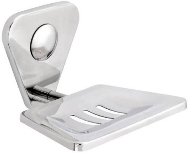 VANSI Soap Dish Holder, Self Adhesive Wall Mounted Soap Sponge Holder Stainless Steel Storage Saver Rack/Bathroom Shower for Home Kitchen (Silver)