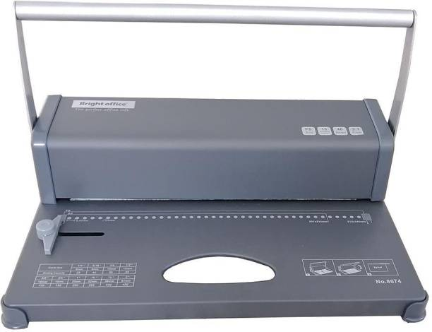 verena FS size spiral coil paper binding machine 40 holes 15 sheets max punching capacity No.8674 Manual Ring Binder