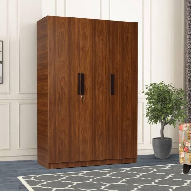 TREVI Ozone With Drawer Engineered Wood 3 Door Wardrobe