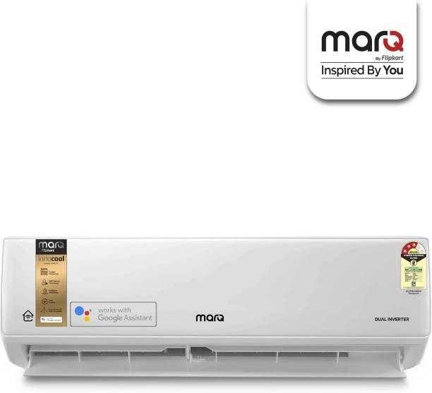 MarQ By Flipkart 1.5 Ton 3 Star Split Dual Inverter Smart AC with Wi-fi Connect  - White